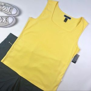 Karen Scott Sunny Yellow Tank Top Plus Size 0X
